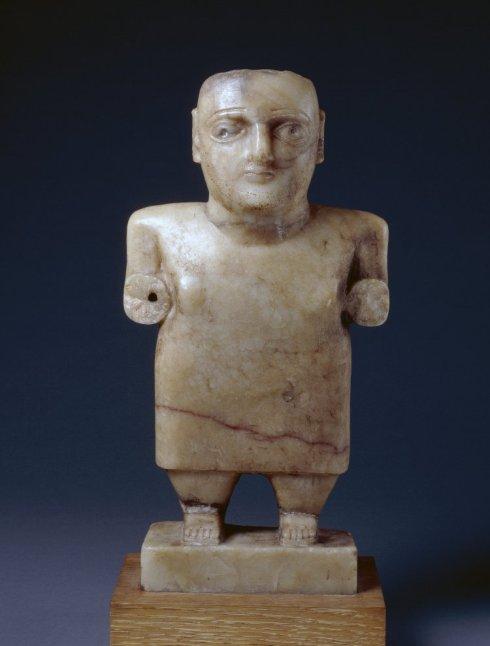 calcite statue of a man