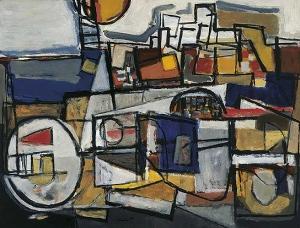 Corneille-lhomme-dans-la-ville-1952 - cobra art