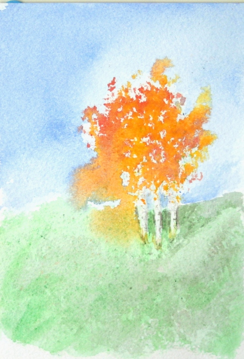 watercolor birch